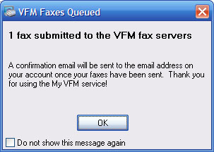 Your fax has been delivered to our servers